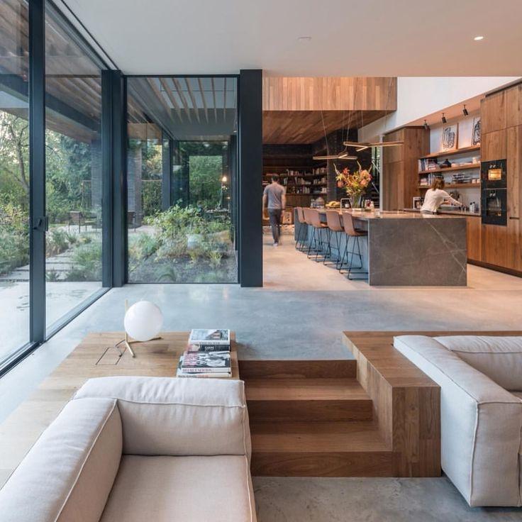 Cozinha central em frente ao ar livre  – Design