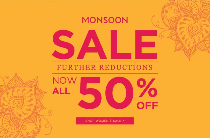 Sale Banner from Monsoon #Web #Digital #Banner #Online #Marketing #Retail #Fashion #Sale #Reductions