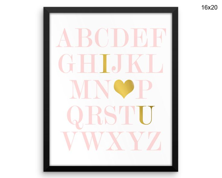 Alphabet Prints Alphabet Canvas Wall Art Alphabet Framed Print Alphabet Wall Art Canvas Alphabet Nursery Art Alphabet Nursery Print Decor #canvas #frame