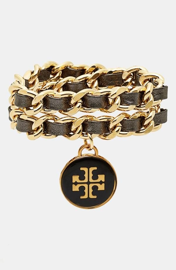 Add some glam! Woven bracelet from Tory Burch