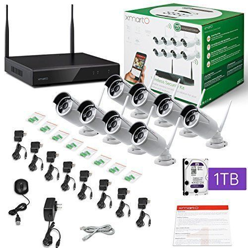 HD Wireless Security Camera System Set 8 Channel NVR 1TB Hard Drive Weatherproof #xmartO