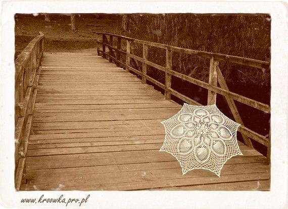 Wedding lace white parasol  victorian style umbrella by kroowka, $79.99