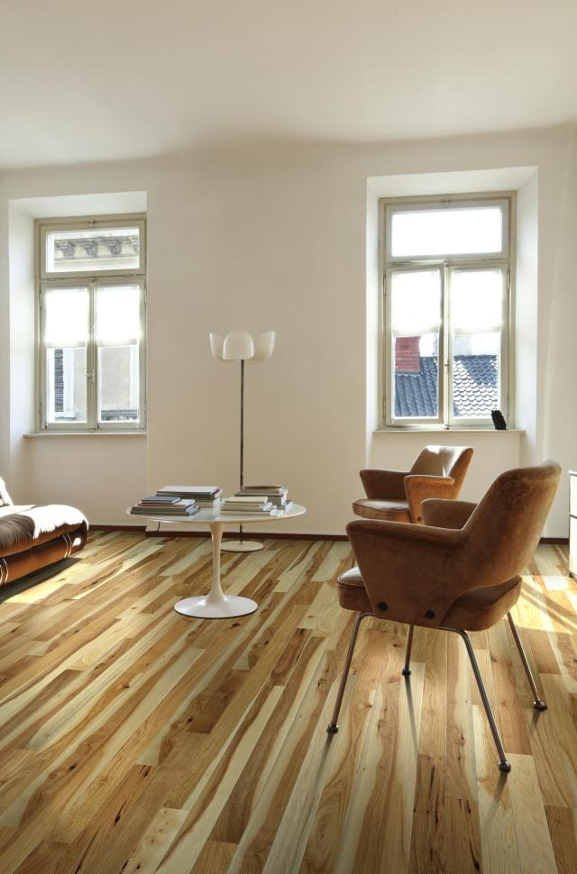 hickory floor in modern space