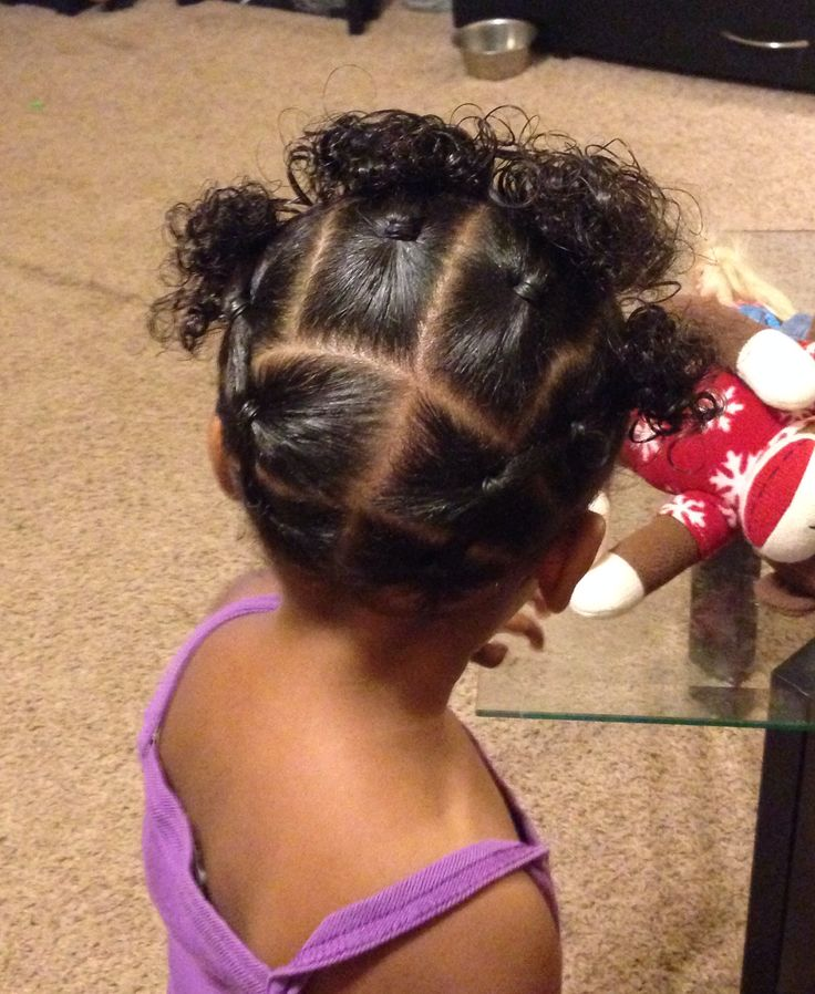 Mixed Girl Biracial No Braid Black Girl Toddler