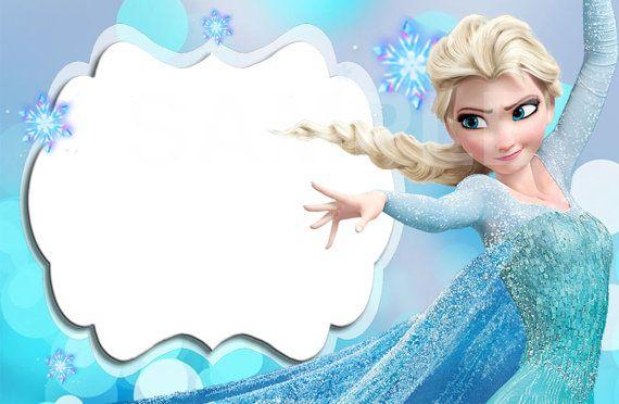 Disney congelado etiqueta Editable por DreamalittleCraft en Etsy