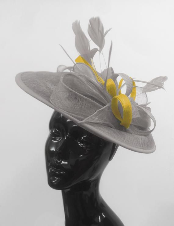 Race Wedding Feather Flower Fascinator Derby Hat Lady Hairband Headband Clip