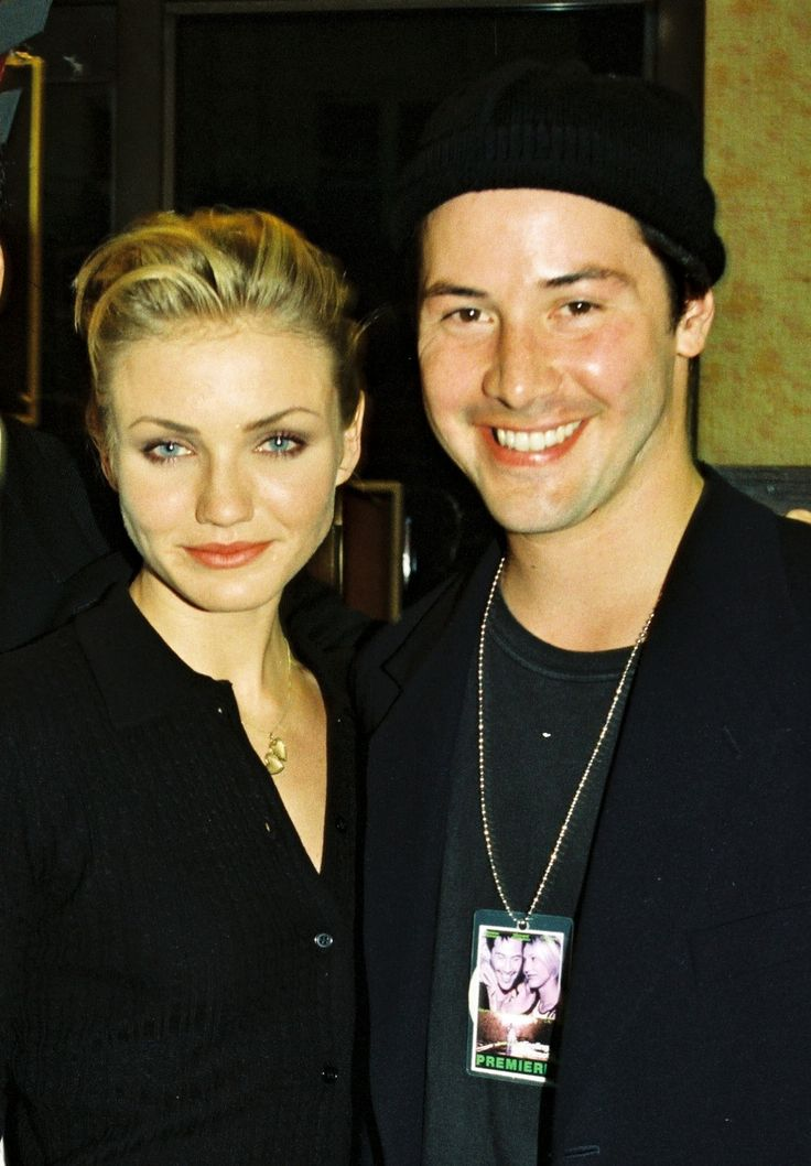 Keanu and Cameron Diaz at the premiere of Feeling Mminnesota in Los Angeles on September 10, 1996