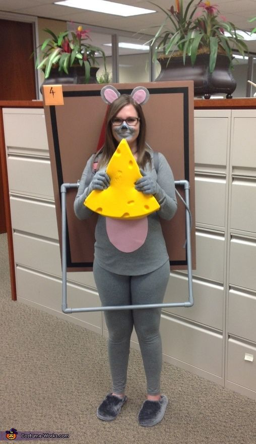 Ciara: Every year I scan through Pinterest photos for inspiration. This year I decided to choose a Mousetrap as my costume. Below are items I used to create my costume: Mouse...
