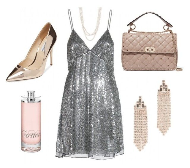 """Disco queen"" by csmarcsi on Polyvore featuring Yves Saint Laurent, Steve Madden, Bloomingdale's, Valentino, Rebecca Minkoff and Cartier"