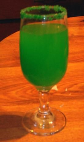 Green Daiquiri Punch from Food.com:   I got this recipe years ago out of a Betty Crocker Holiday Recipe magazine..It is so pretty and so easy to make I have made it many times...would work good for a St. Pattys Day drink or Xmas...I serve it in a large pitcher instead of a punch bowl...