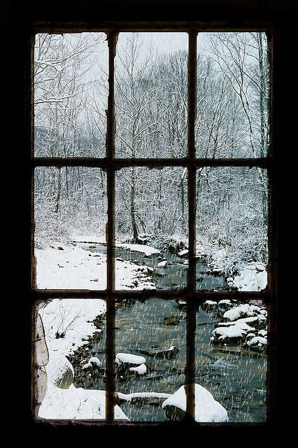 Looking Out The Barn Window,Snow Creek, Portsmouth, Ohio - Windows are so much more than mere openings