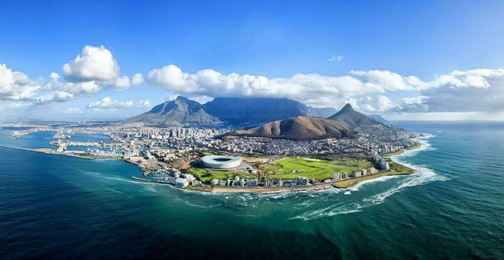 Spectacular Photo of Table mountain and the Green Point Stadium