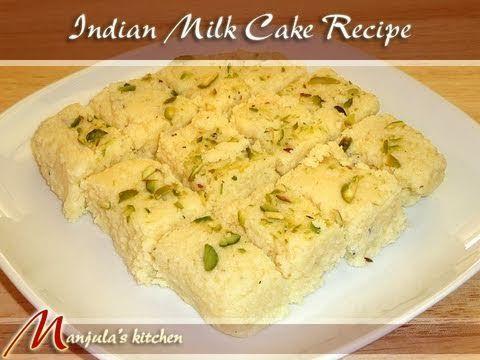 Milk Cake - Manjula's Kitchen - Indian Vegetarian Recipes
