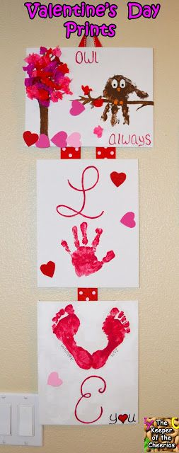 Valentines Day Foot and Hand Prints Craft- Owl Always Love You