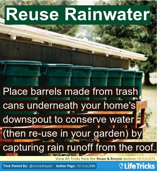 Reuse & Recycle - Reuse Rainwater