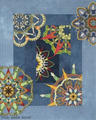 """A challenge quilt for """"communication"""" by Vicki Welsh"""