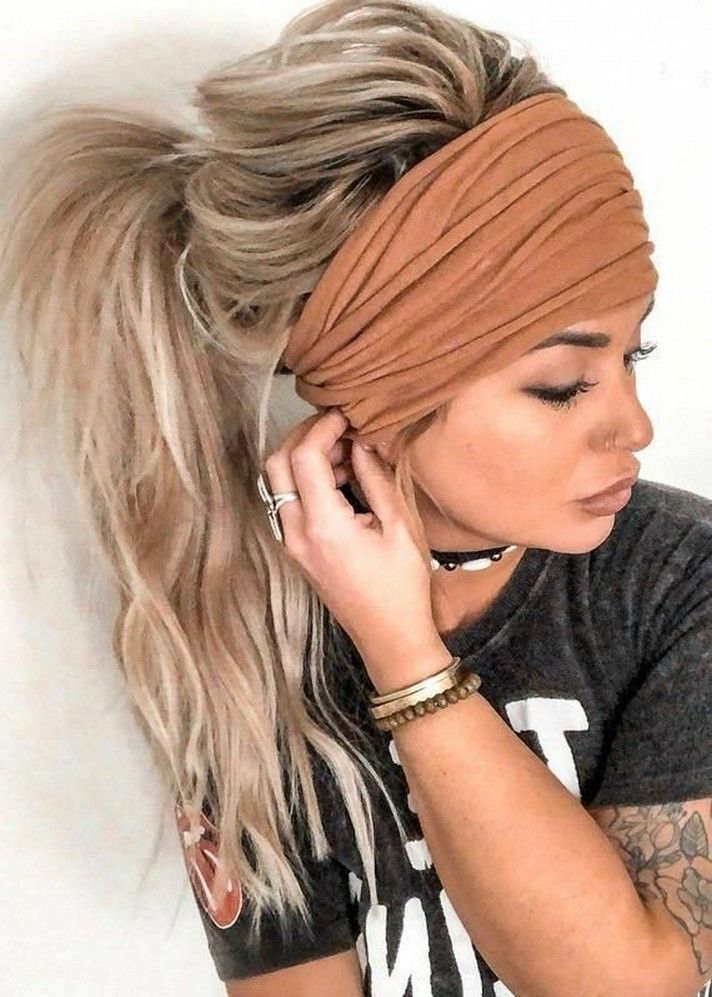 30 Cute Simple And Easy Hairstyles For Long Hair In 2020 8 Beneconnoi Com In 2020 Thick Hair Styles Hair Styles Headband Hairstyles