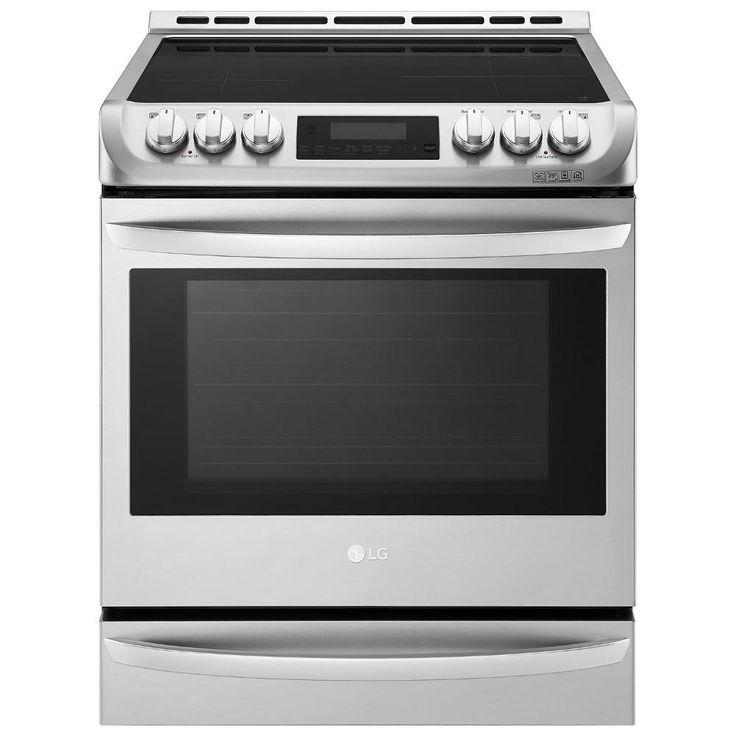 LG Electronics 6.3 cu. ft. 30 in. Single Electric Oven Range with ProBake Convection and Easy Clean in Stainless Steel (Silver)