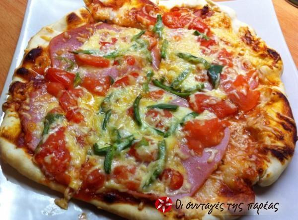 Pizza di spagna σπιτική σαν σε ξυλόφουρνο #sintagespareas #pizza