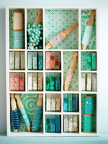 Upcycle breath mint containers for a bead collection, or clothespins for ribbon bits. Stash them in a wall-mounted drawer divider as a snug storage solution.