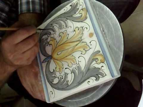 Terakota ceramiche,LAVORAZIONE CERAMICA ARTIGIANALE,CORSO PITTURA CERAMICA SICILIANA,OROLOGIO - YouTube