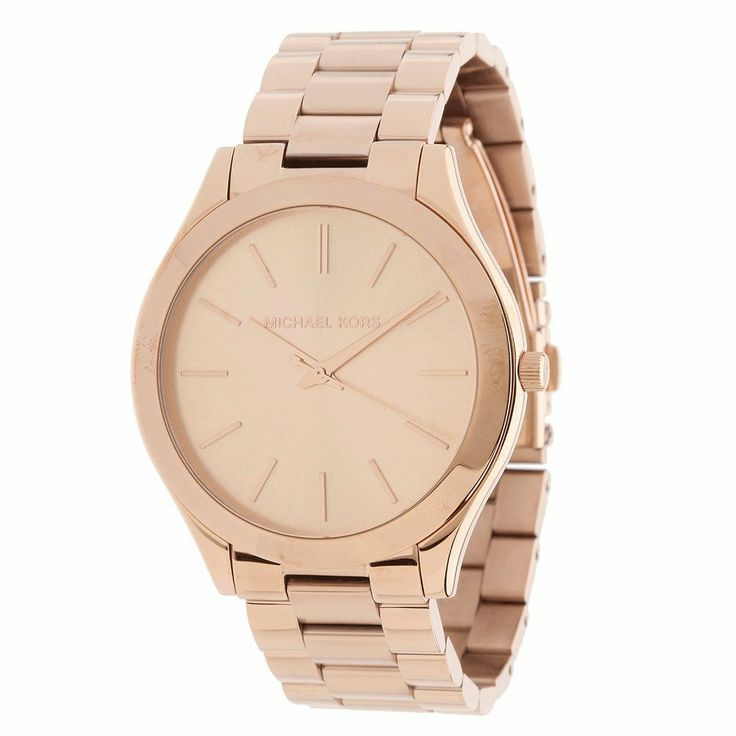 Michael Kors Rose Gold Diamond Bezel Watch