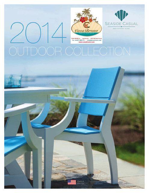 Der neue Seaside Casual Katalog 2014 ist da!       Casa Bruno liefert dauerhaft schöne und strapazierfähige Möbel aus recyceltem HDPE und MGP Kunststoff für Terrasse, Garten und jeden anderen Aussenbereich. So gut wie kein Pflegeaufwand und nie wieder streichen müssen, aber trotzdem perfekte handwerkliche Verarbeitung und Stabilität wie bei Holz.