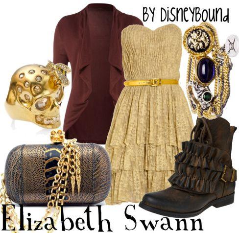 Elizabeth Swann: Disney Outfits, Disney Style, Disney Inspiration, Disneybound, Disney Bound, The Dresses, Elizabeth Swann, Disney Fashion, Pirate