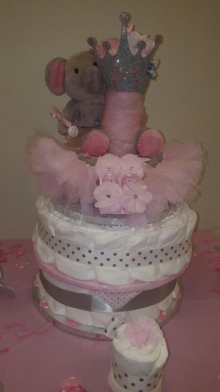 how to make a ballerina diaper cake