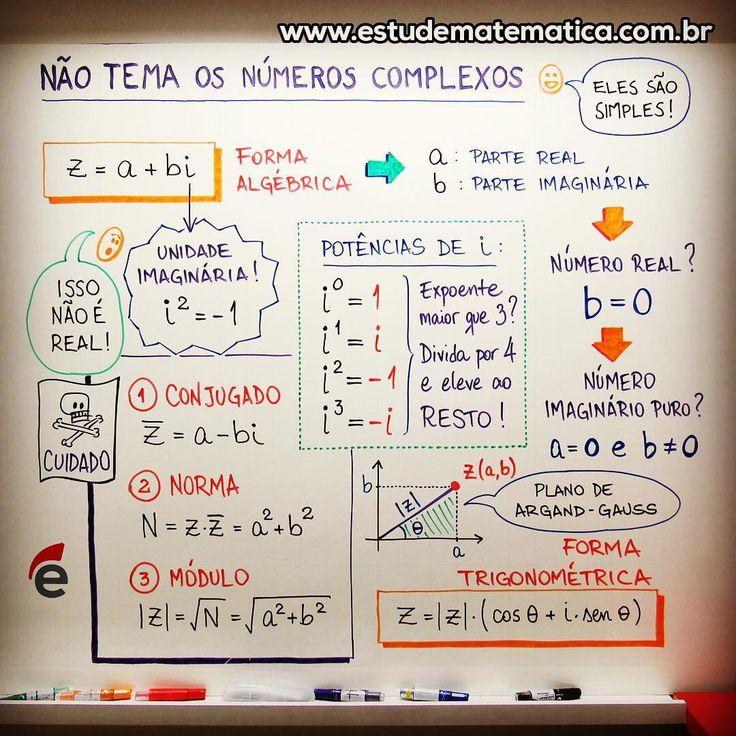 """724 Likes, 8 Comments - Estude Matemática (@estudematematica) on Instagram: """"Esse resuminho tem mais texto do que o normal, mas é por uma boa causa: de agora em diante, é você…"""""""