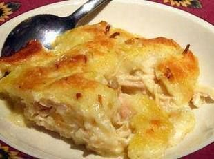 Chicken and Dumpling Casserole Recipe - I make this with low fat cream soup and low fat, low sodium chicken broth, and skim milk. DO NOT add salt to the mixture - too much salt in the ingredients already.
