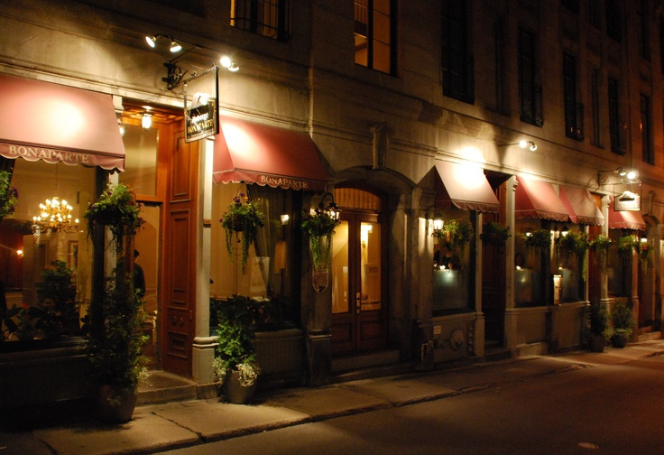 EATING. Bonaparte. The Bonaparte promises you a memorable adventure in the heart of Old Montreal, where past meets present.