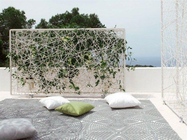 Terrasse Balkon Kletterpflanzen Spalier Dedon Sichtschutz