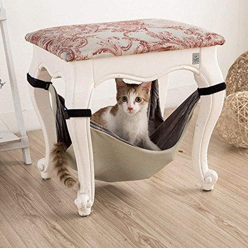 Chinatera Cat Hammock Bed, Pet Animal Kitty Hanging Bunk Sleepy Bed Use with Crate, Cage or Chair for Kitten, Ferret, Puppy, or Small Pet (S:40*40(cm))
