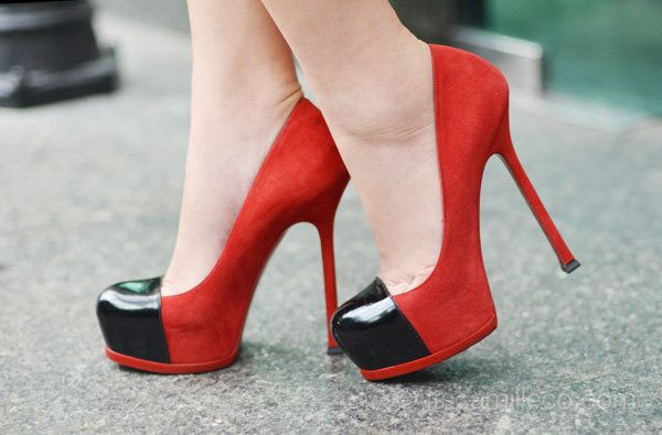 Black & red heels  very Texas Tech!