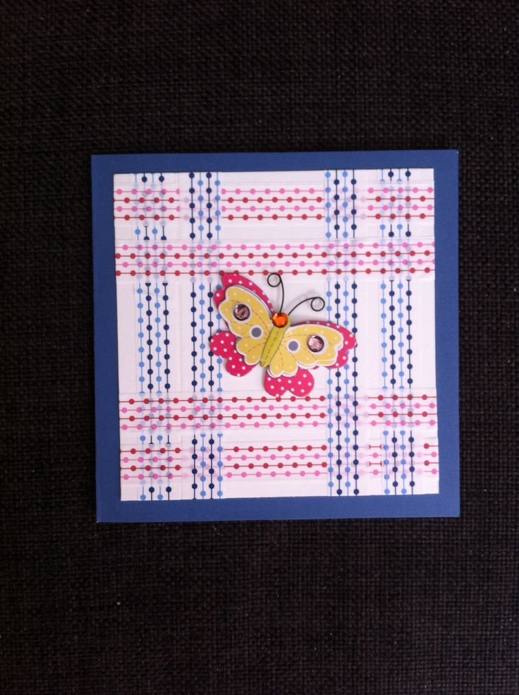 Card using washi tape & butterfly sticker