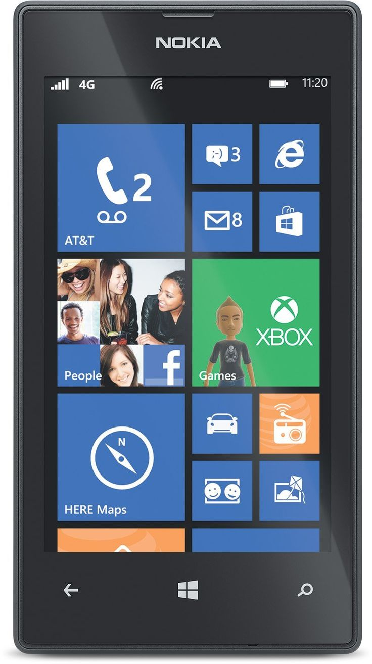 "AT&T Nokia Lumia 520 4"" GoPhone Prepaid Windows 8 Smartphone $50 + Free Site-to-Store Shipping"