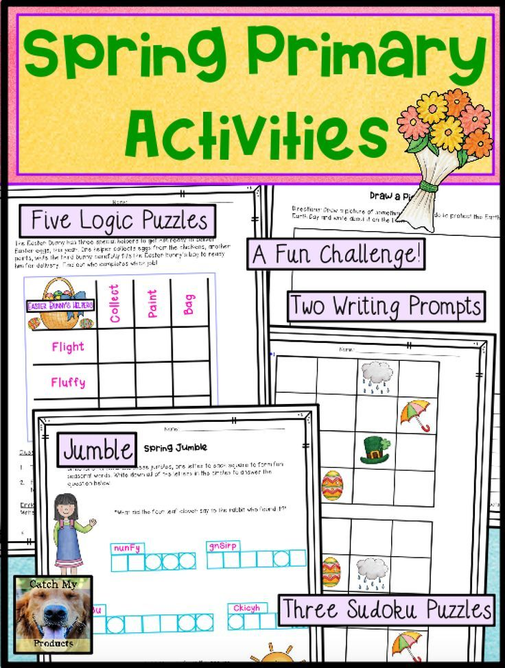 Spring Activity Worksheets Spring Resources Teaching activities