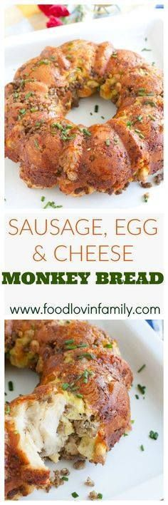 Sausage Egg and Che Sausage Egg and Cheese Monkey Bread is...  Sausage Egg and Che Sausage Egg and Cheese Monkey Bread is sure to be the hit of your next breakfast or brunch. Savory Monkey Bread Breakfast Monkey Bread. #ad #BreakfastGoals2017 @Walmart Recipe : http://ift.tt/1hGiZgA And @ItsNutella  http://ift.tt/2v8iUYW
