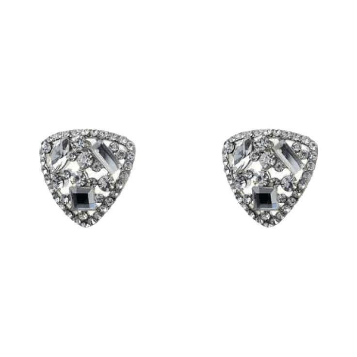 Jeminee Jewellery Khloe silver #Swarovski crystal earrings | #Fashion #Statement #Style