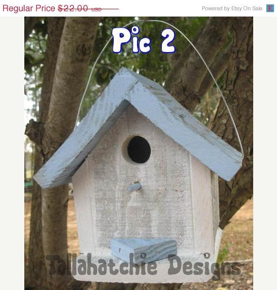 30% Off Today!  Driftwood Collection Cottage style birdhouse, Cute colorful birdhouse, Beach Birdhouse, Nautical Birdhouse
