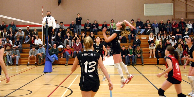 Volleyball is one of many sports that unfolds in the Brentwood gym
