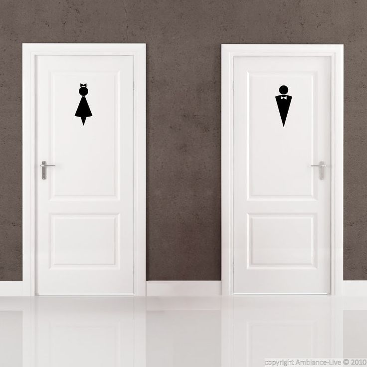 17 best images about clever unique salon restroom sign for Cool shower door ideas