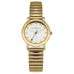 Johnny Loves Rosie Gold Expander Strap Midi Dial Watch