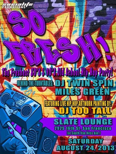 13 best Party ideas images on Pinterest 90s party, Hip hop party - fresh birthday party invitation designs