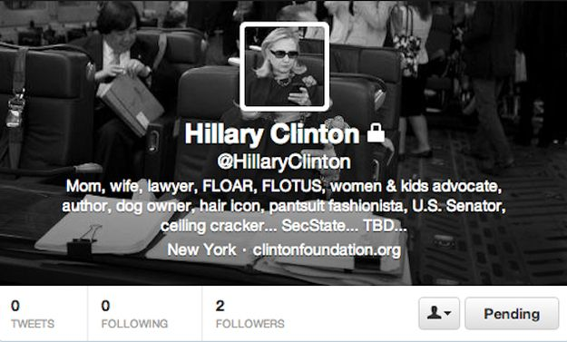 This is her account this morning. | Hillary Clinton Tweets!