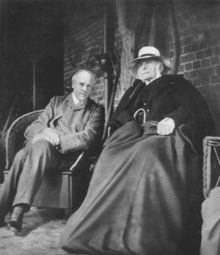 Galton, aged 87, with Karl Pearson.