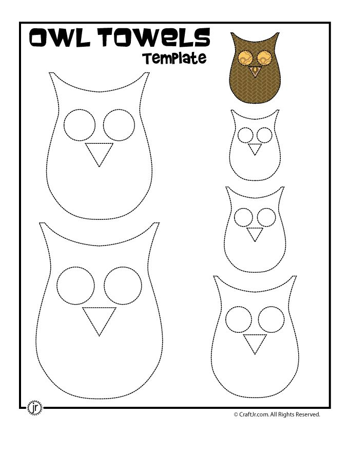 Fall Kitchen Crafts: Owl Towels Printable Owl Template – Craft Jr.