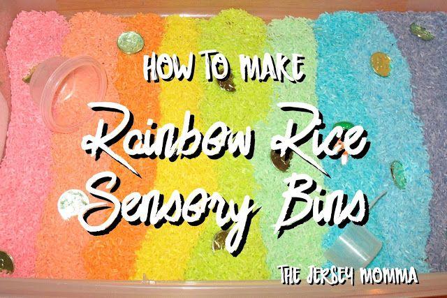 The Jersey Momma: How to Make Rainbow Rice Sensory Bins