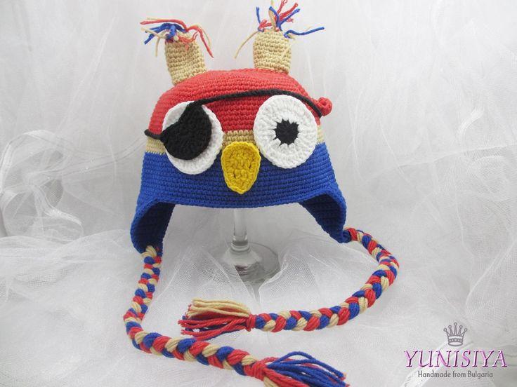 Crochet baby hat Baby boy hat Crochet hat Animal hat Pirate Owl Hat Pirate costume Owl costume Kids winter hat Crochet hats for kids by Yunisiya on Etsy
